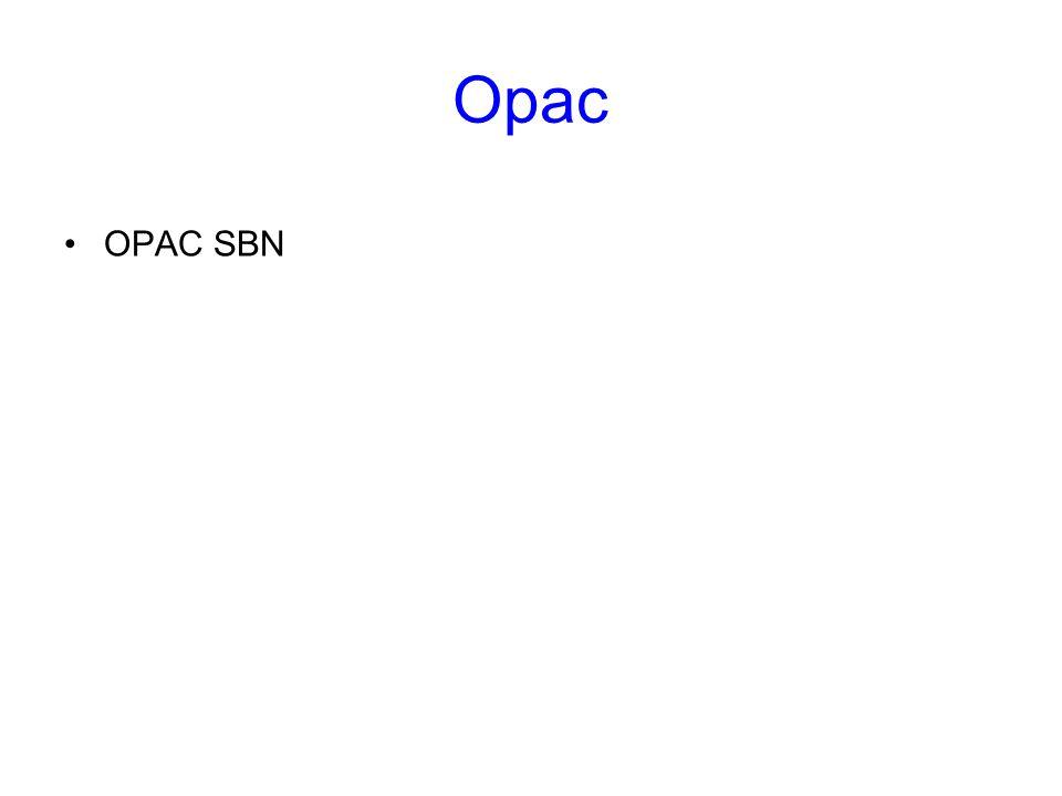 Opac OPAC SBN. Opac. Gli OPAC, acronimo di On line Public Access Catalog, rappresentano una delle risorse informative più preziose della rete.