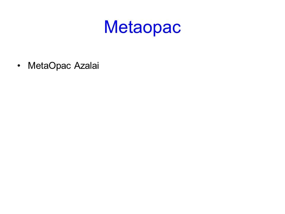 Metaopac MetaOpac Azalai Metaopac
