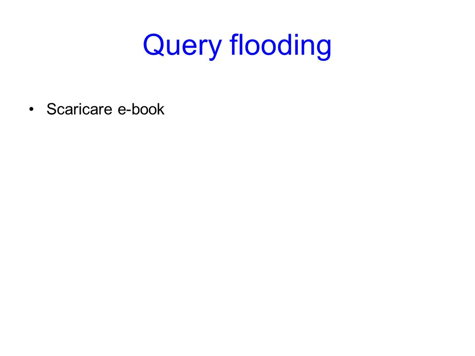 Query flooding Scaricare e-book Query flooding