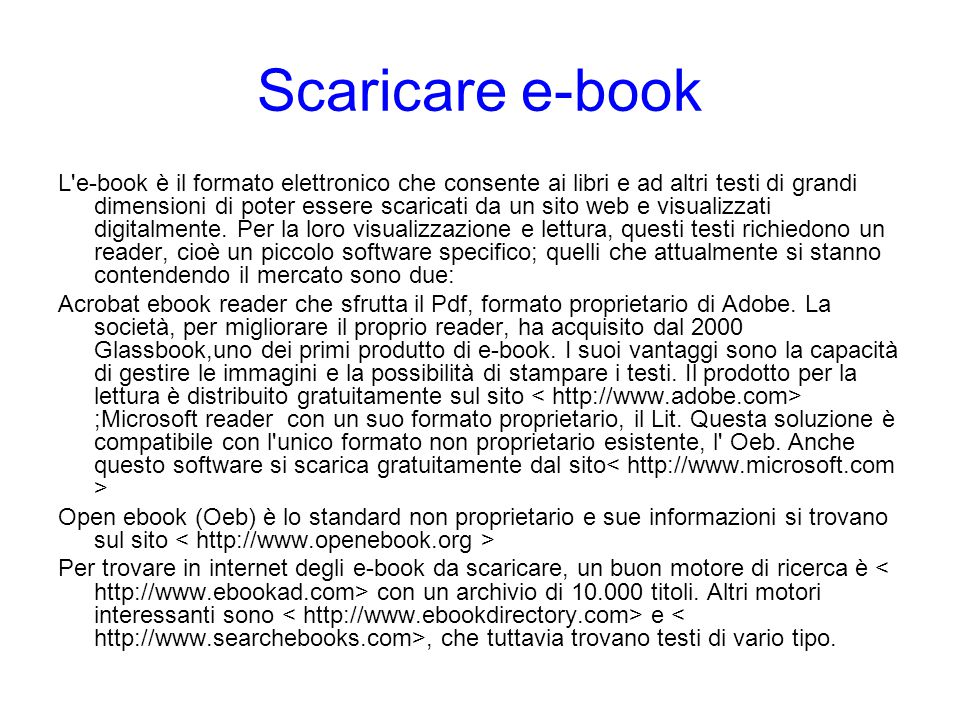Scaricare e-book