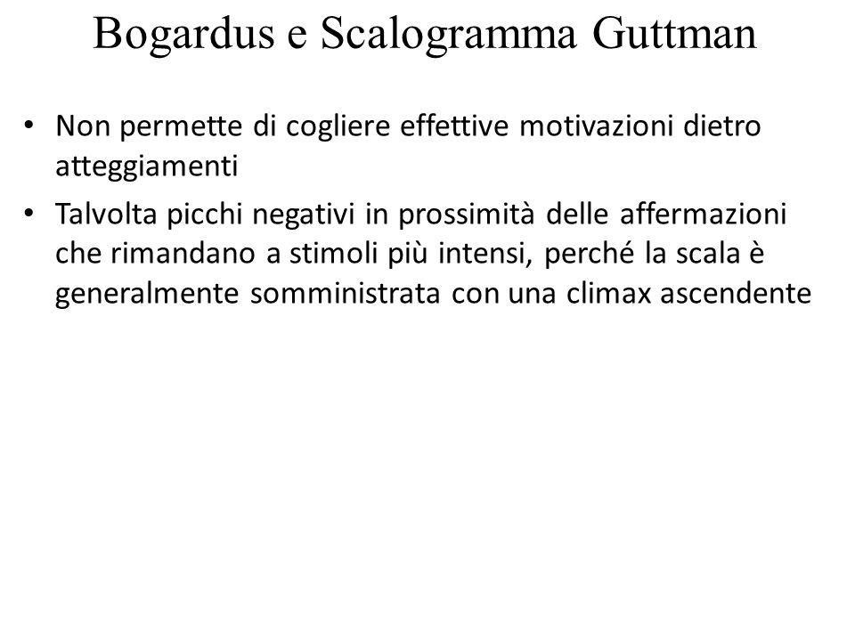 Bogardus e Scalogramma Guttman