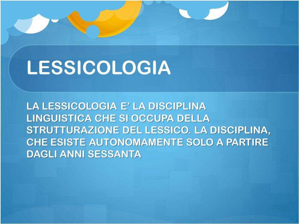 LESSICOLOGIA