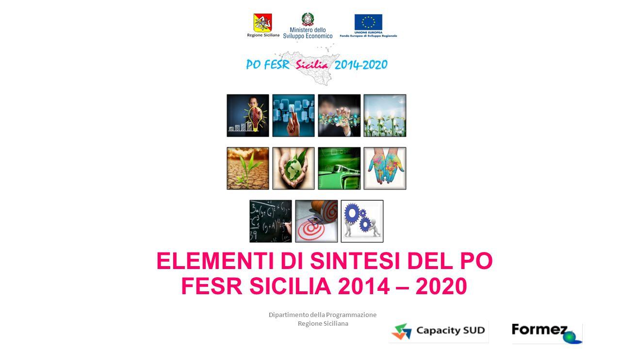 ELEMENTI DI SINTESI DEL PO FESR SICILIA 2014 – 2020