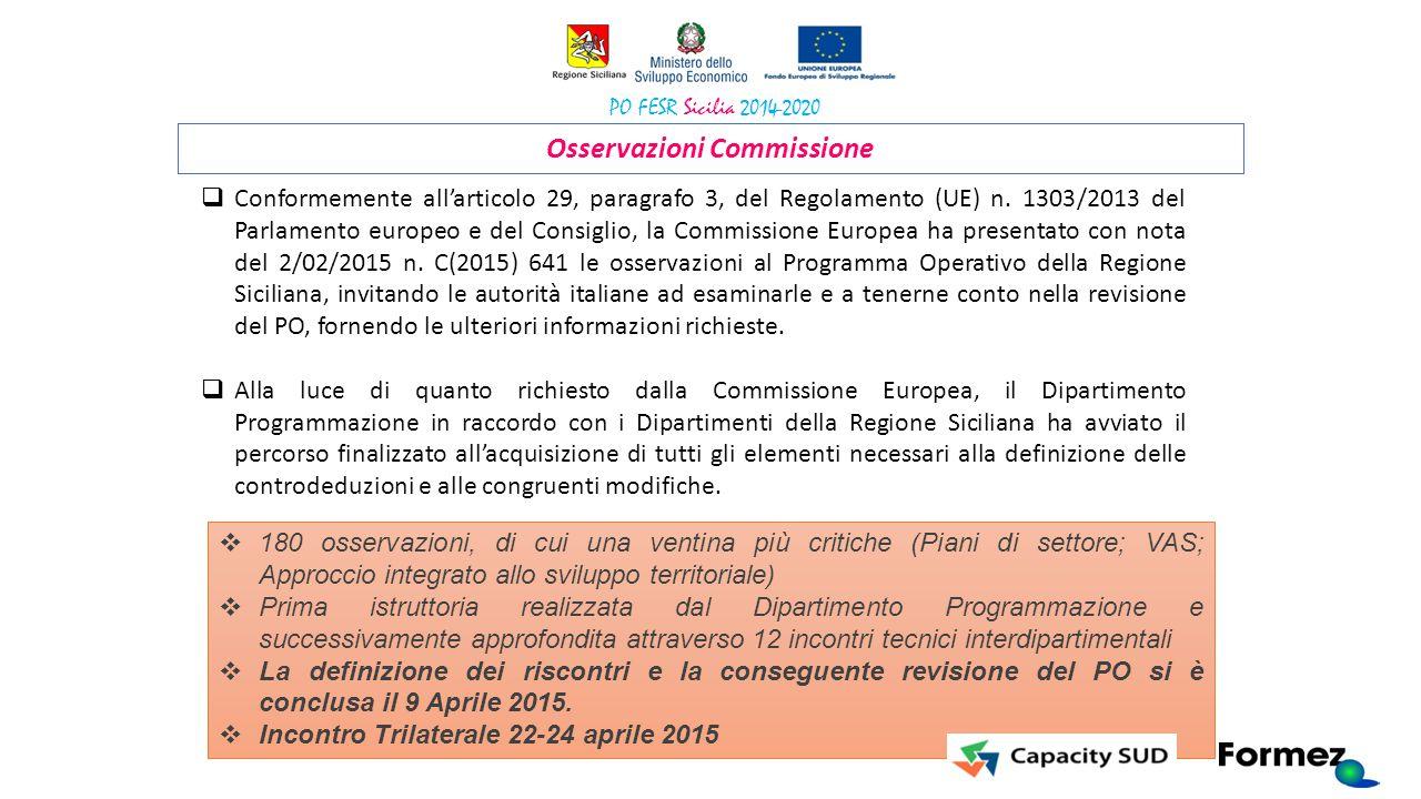 Osservazioni Commissione