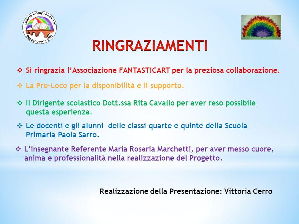 RINGRAZIAMENTI Si ringrazia l'Associazione FANTASTICART per la preziosa collaborazione. La Pro-Loco per la disponibilità e il supporto.