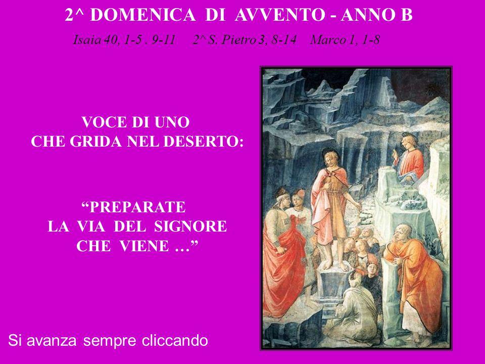 2^ DOMENICA DI AVVENTO - ANNO B