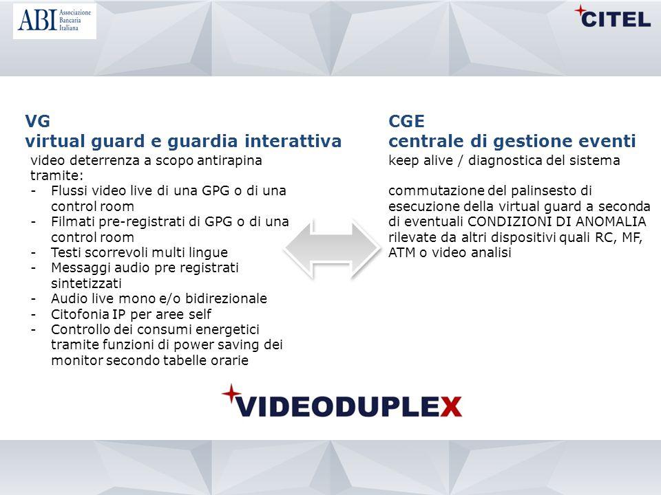 virtual guard e guardia interattiva CGE centrale di gestione eventi