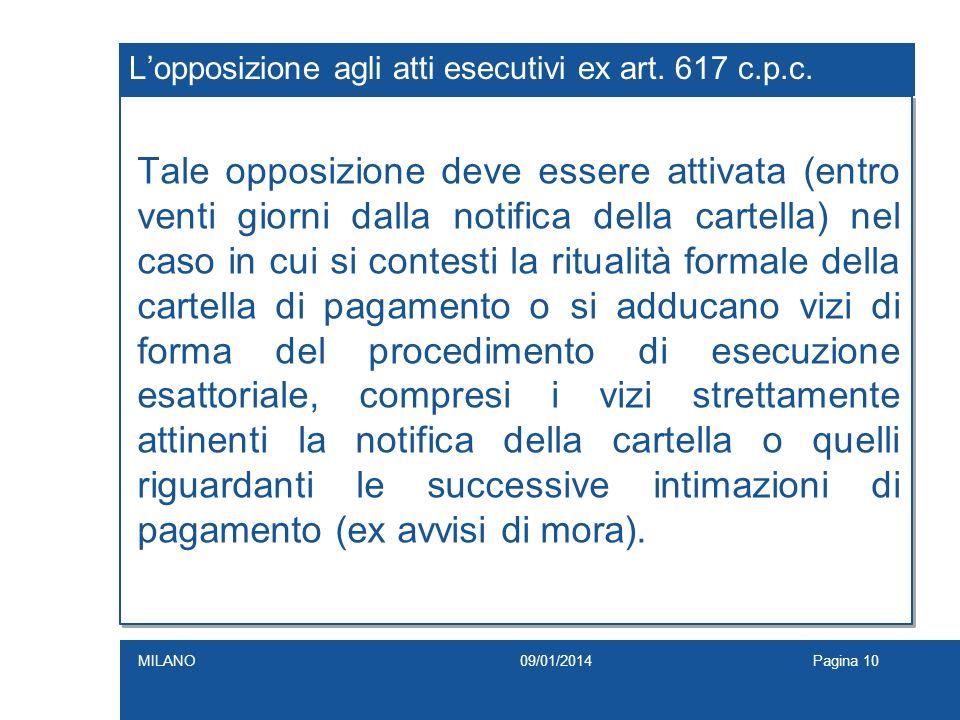 L'opposizione agli atti esecutivi ex art. 617 c.p.c.