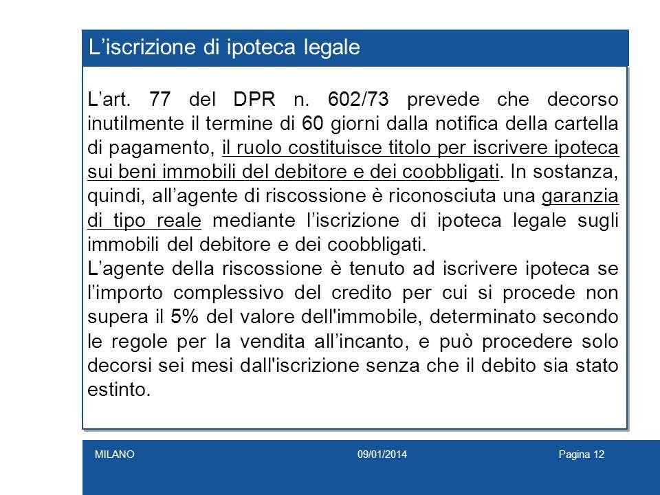 L'iscrizione di ipoteca legale