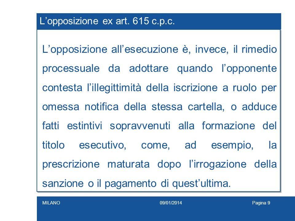 L'opposizione ex art. 615 c.p.c.