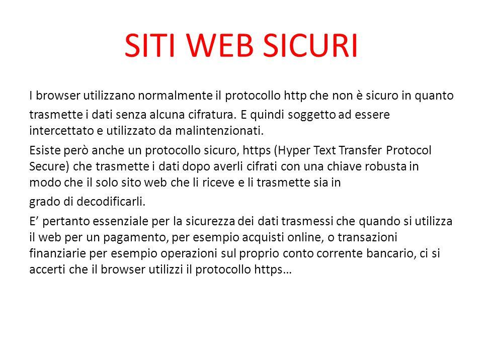 SITI WEB SICURI