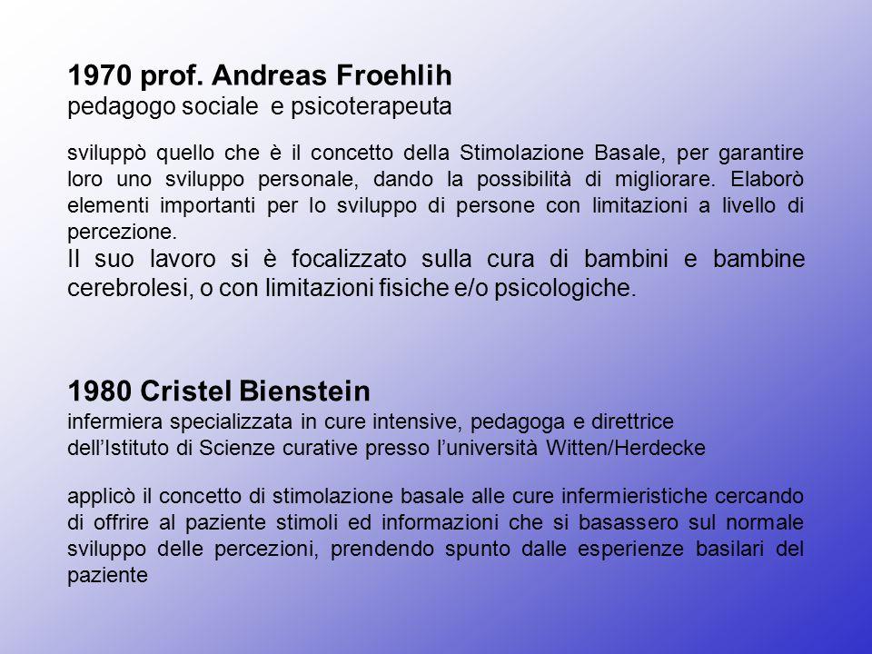 1970 prof. Andreas Froehlih 1980 Cristel Bienstein