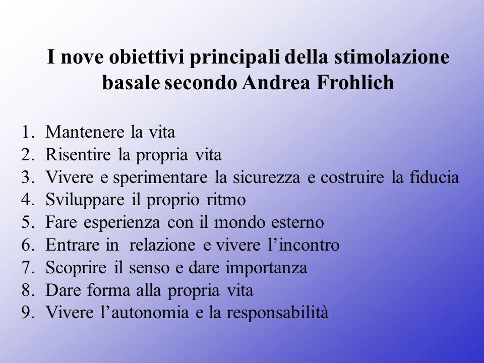 I nove obiettivi principali della stimolazione basale secondo Andrea Frohlich