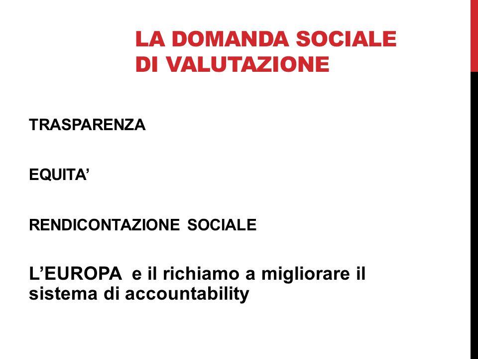 La domanda sociale di valutazione