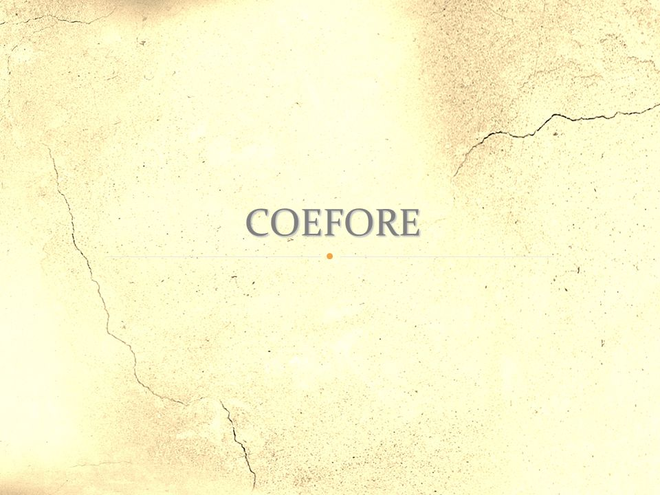 COEFORE