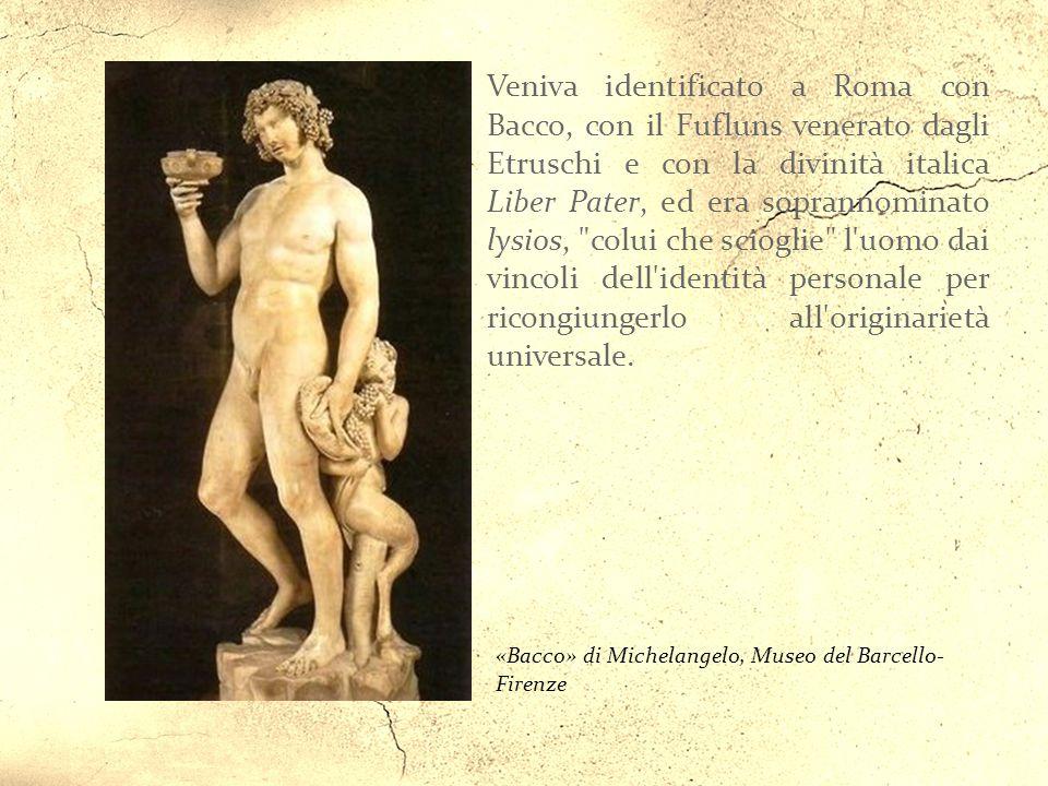 «Bacco» di Michelangelo, Museo del Barcello- Firenze