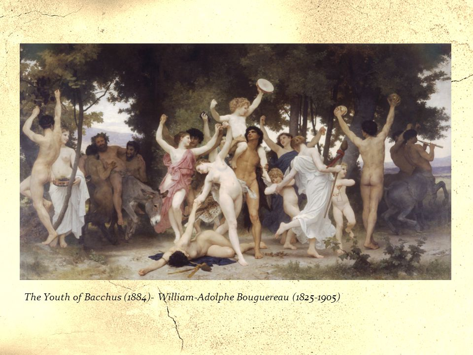 The Youth of Bacchus (1884)- William-Adolphe Bouguereau (1825-1905)