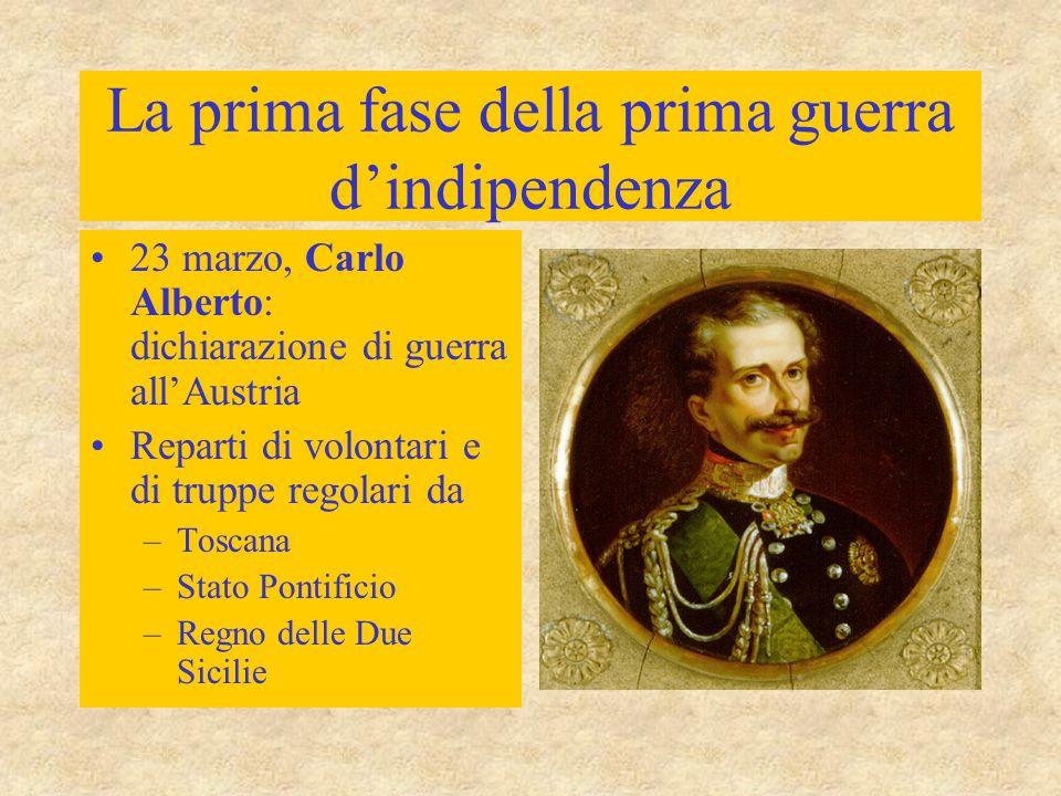 La prima fase della prima guerra d'indipendenza