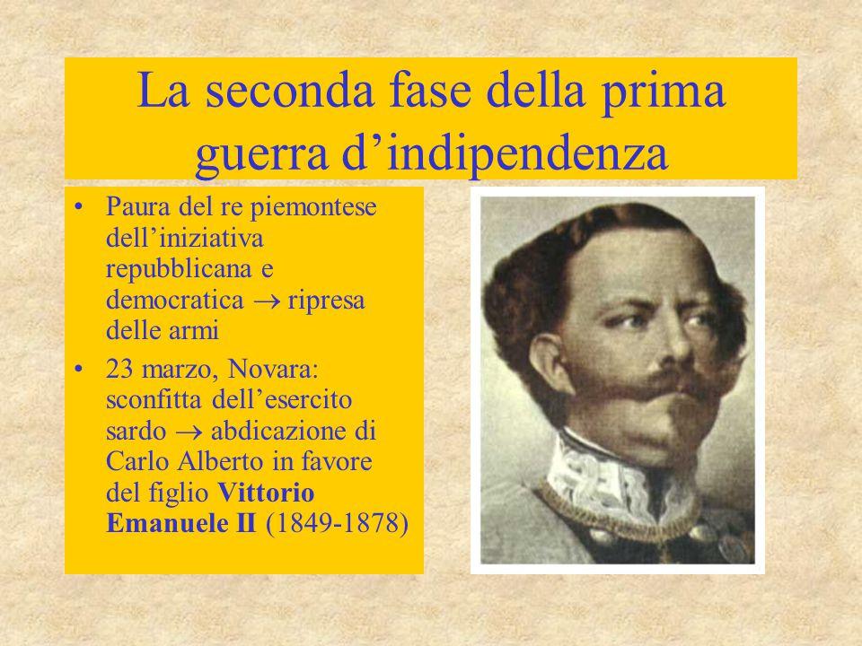 La seconda fase della prima guerra d'indipendenza