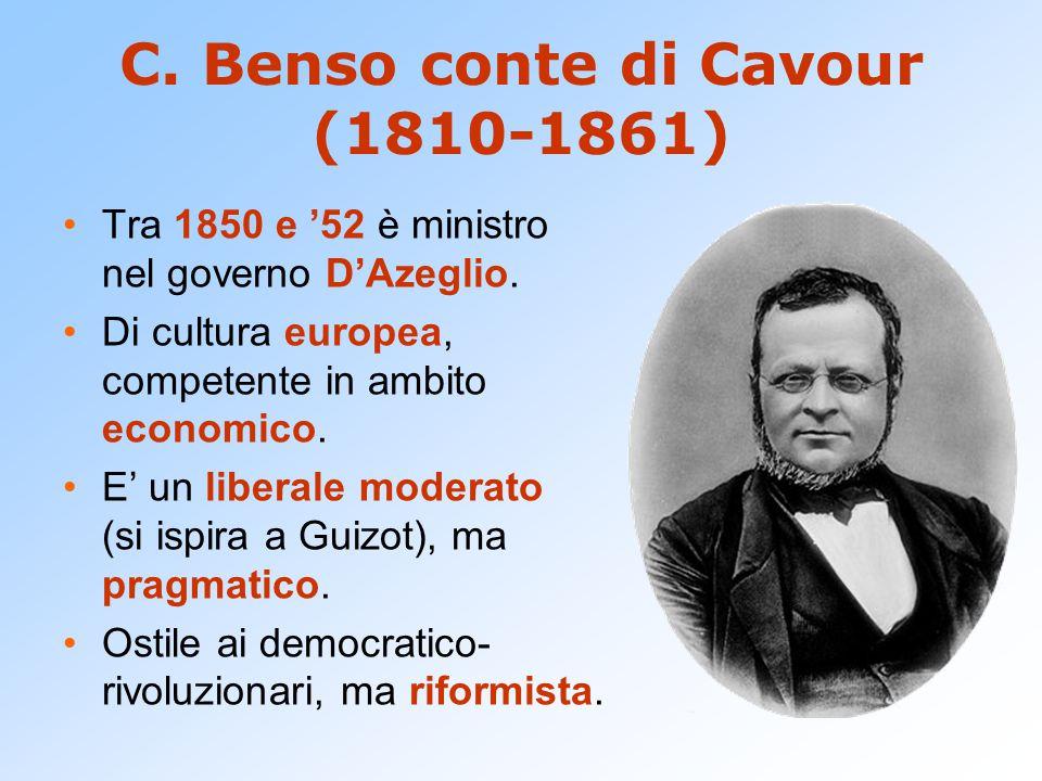 C. Benso conte di Cavour (1810-1861)