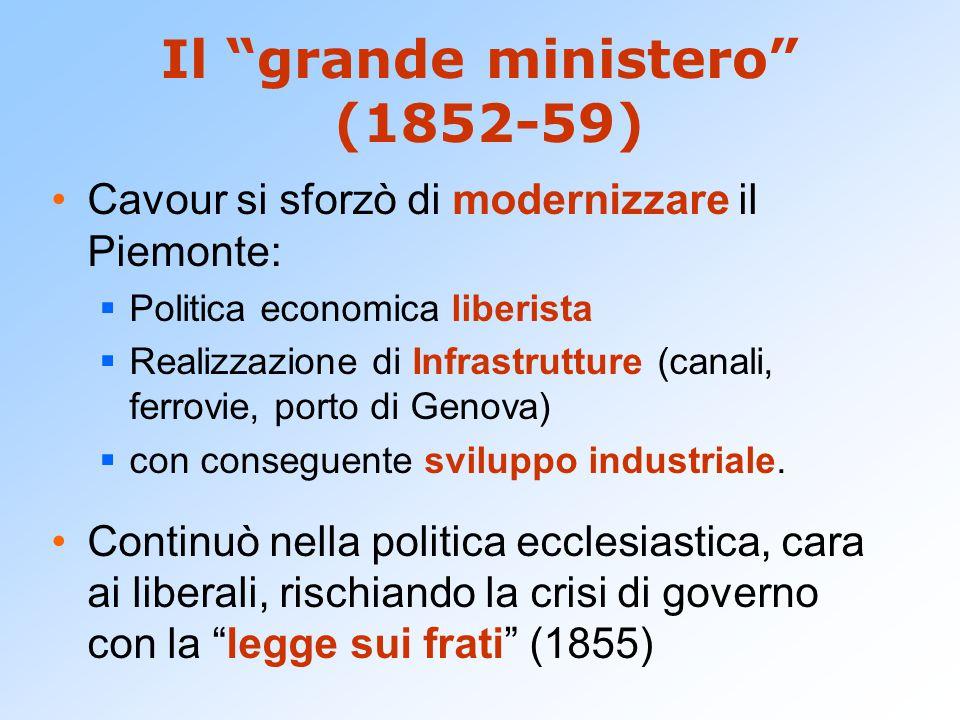 Il grande ministero (1852-59)
