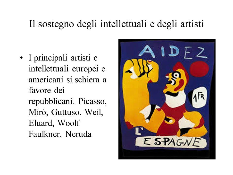 Il sostegno degli intellettuali e degli artisti