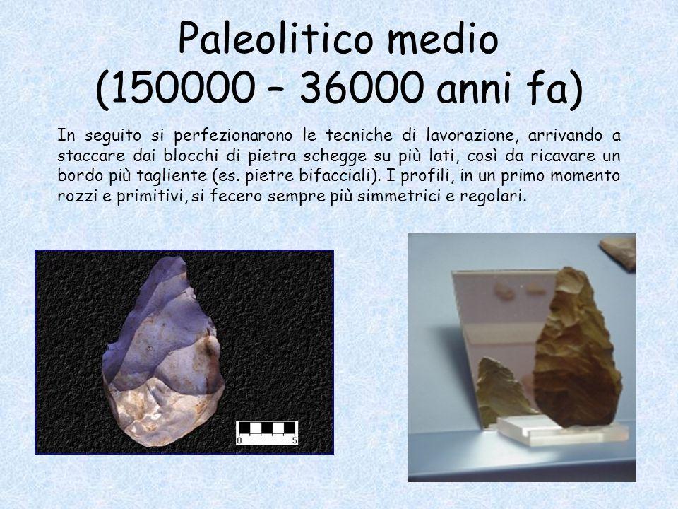 Paleolitico medio (150000 – 36000 anni fa)