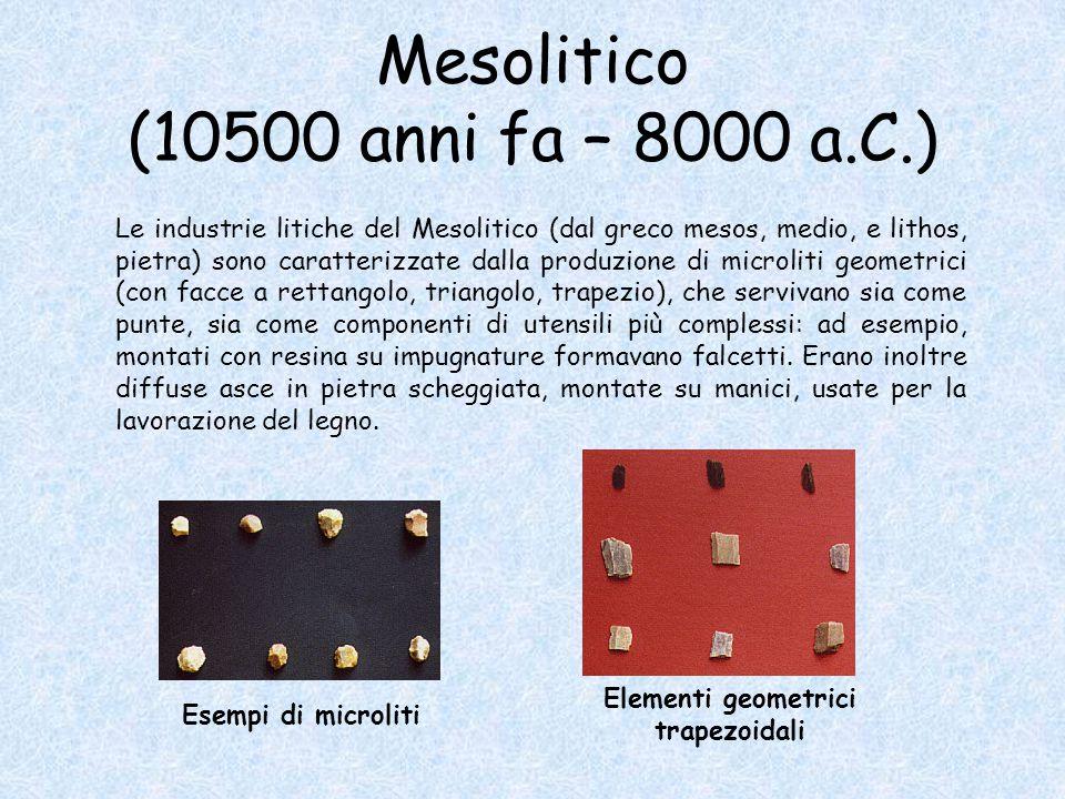 Mesolitico (10500 anni fa – 8000 a.C.)