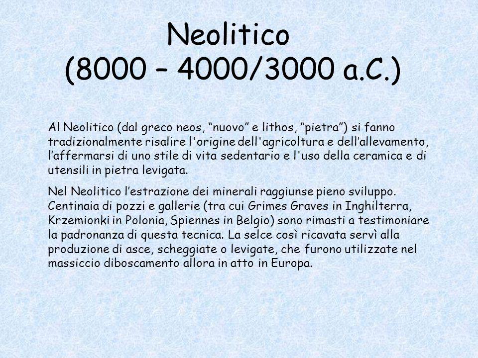 Neolitico (8000 – 4000/3000 a.C.)