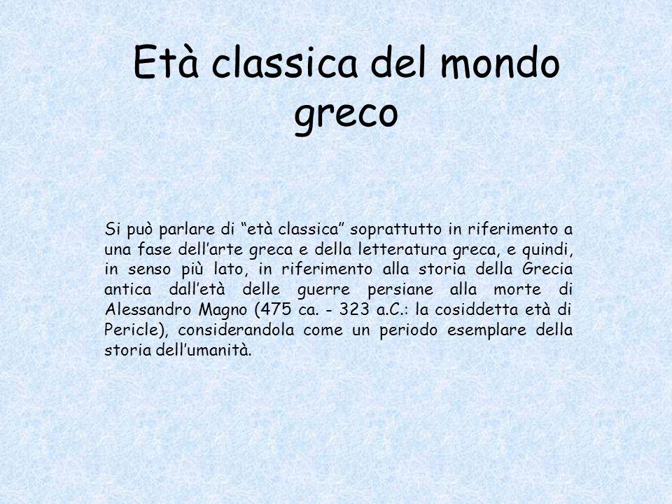 Età classica del mondo greco