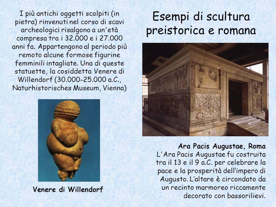 Esempi di scultura preistorica e romana