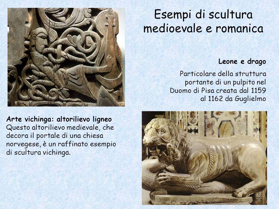 Esempi di scultura medioevale e romanica