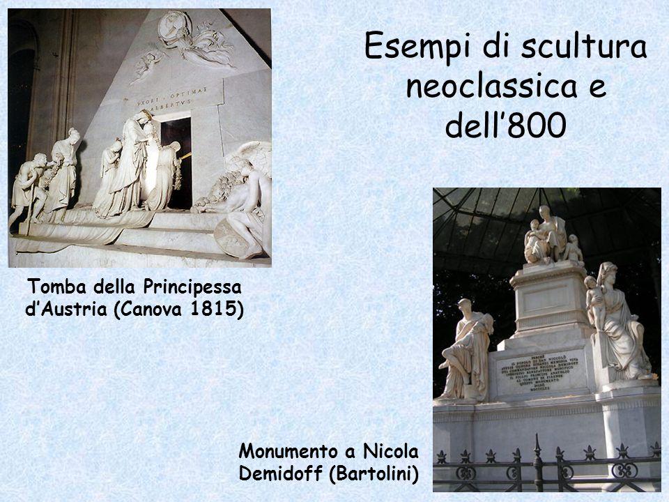 Esempi di scultura neoclassica e dell'800