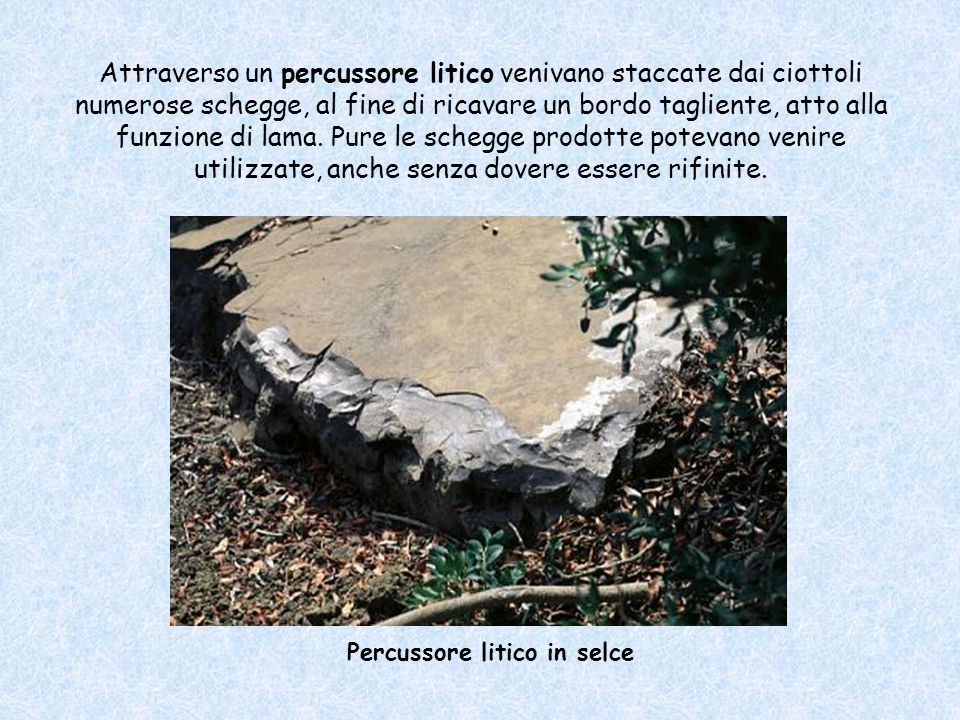Percussore litico in selce