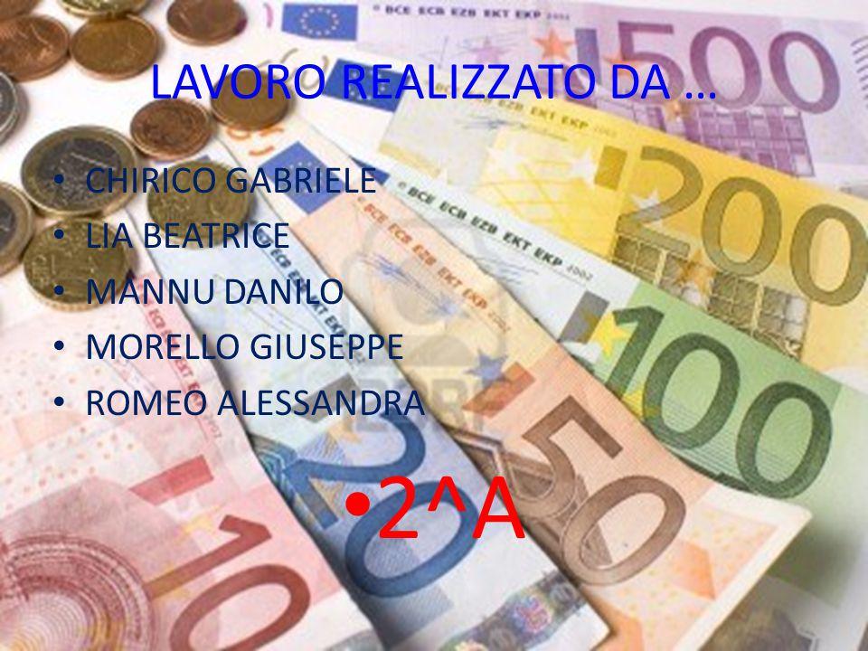 2^A LAVORO REALIZZATO DA … CHIRICO GABRIELE LIA BEATRICE MANNU DANILO