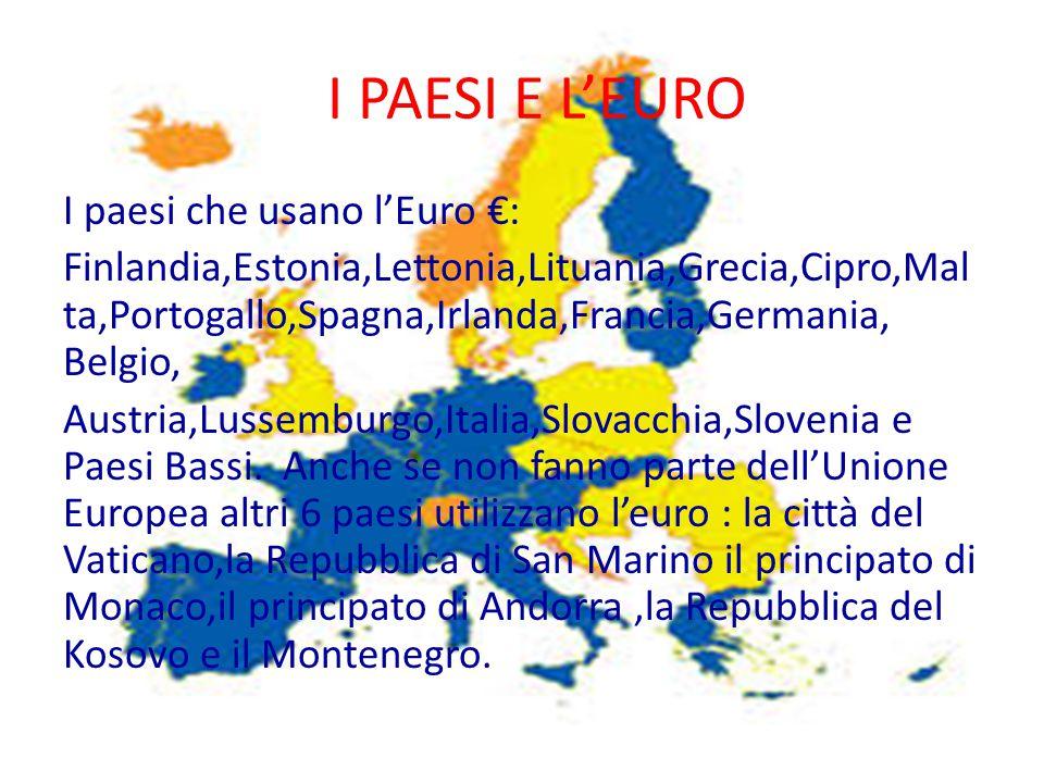 I PAESI E L'EURO