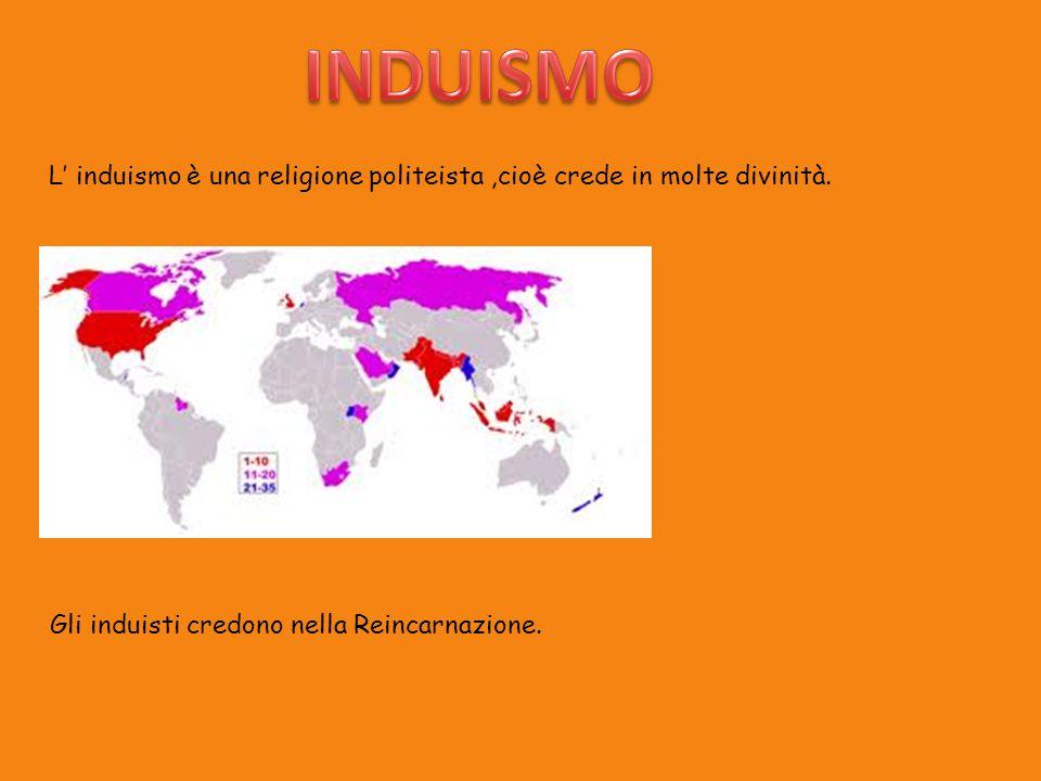 INDUISMO L' induismo è una religione politeista ,cioè crede in molte divinità.
