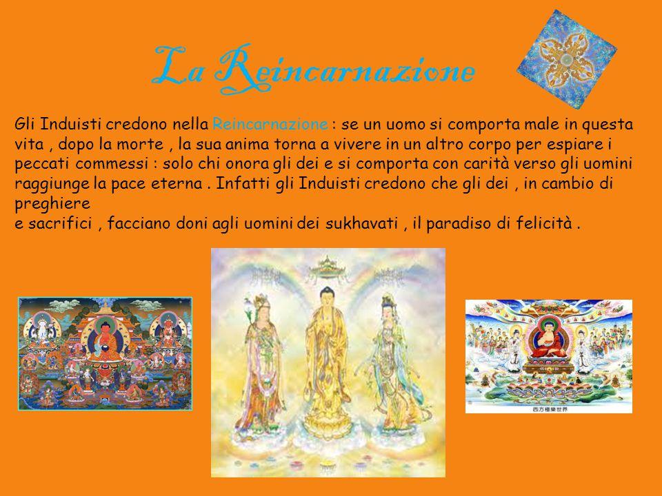 La Reincarnazione Gli Induisti credono nella Reincarnazione : se un uomo si comporta male in questa.