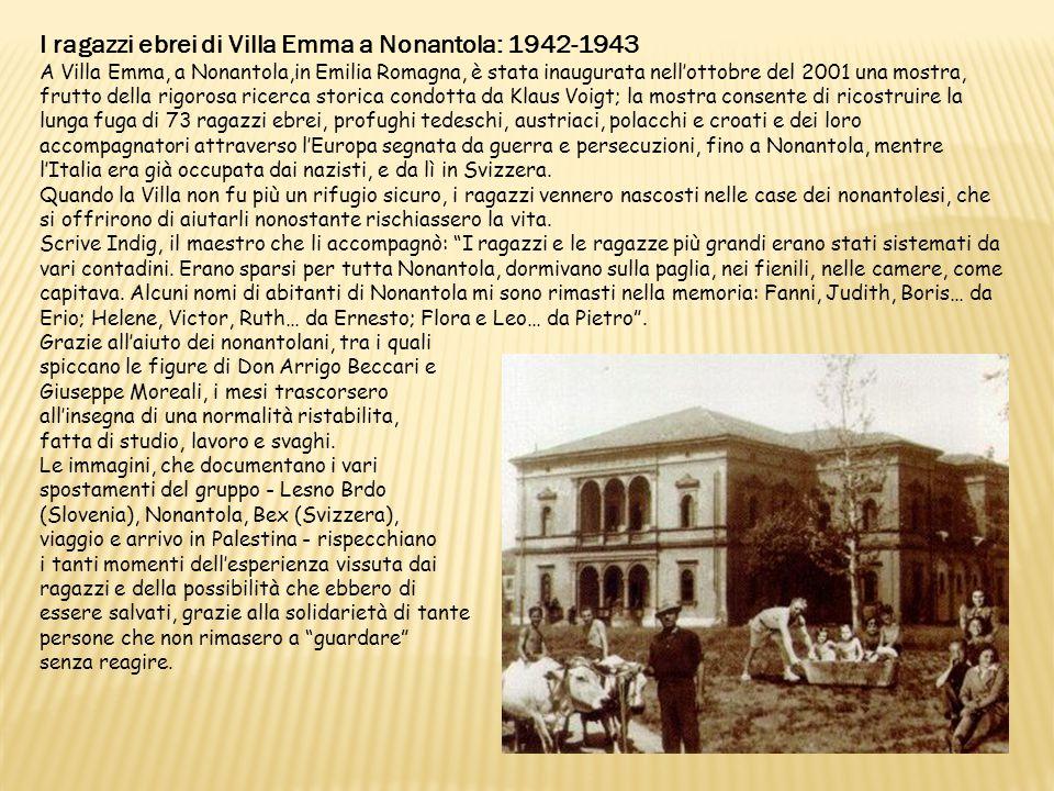 I ragazzi ebrei di Villa Emma a Nonantola: 1942-1943