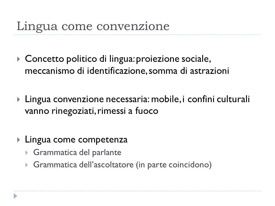 Lingua come convenzione