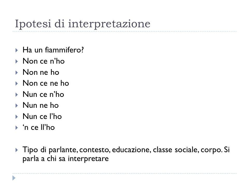 Ipotesi di interpretazione