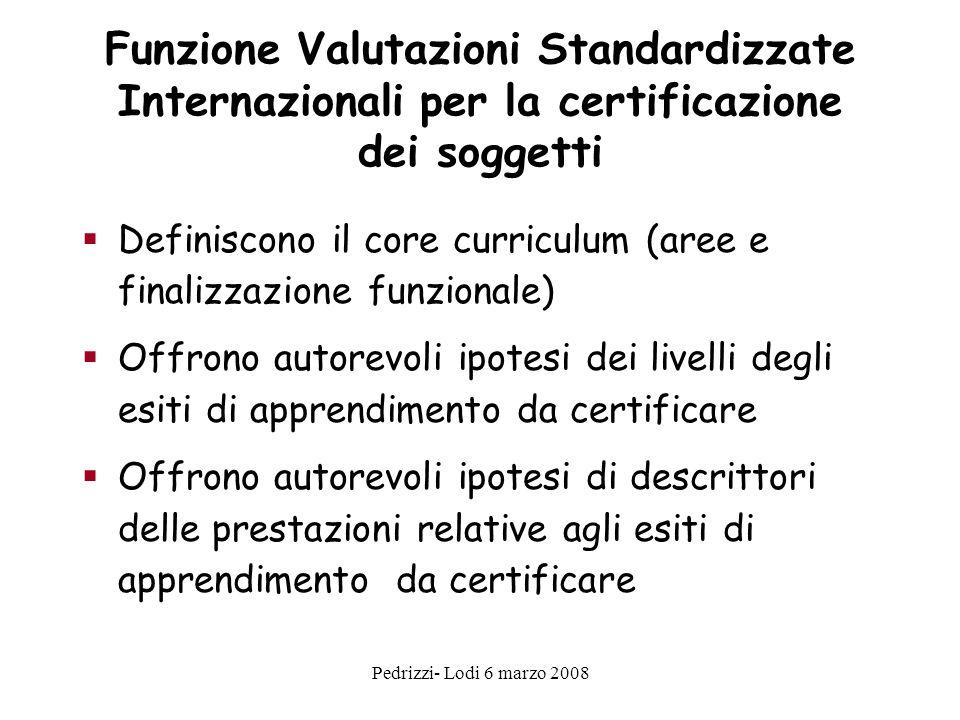 Funzione Valutazioni Standardizzate Internazionali per la certificazione dei soggetti
