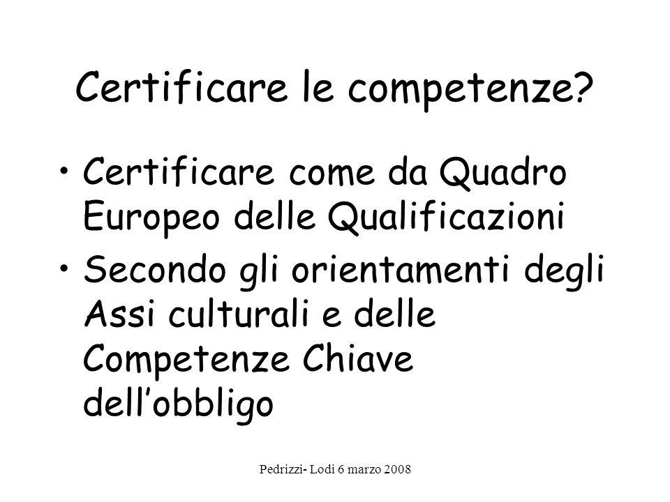 Certificare le competenze