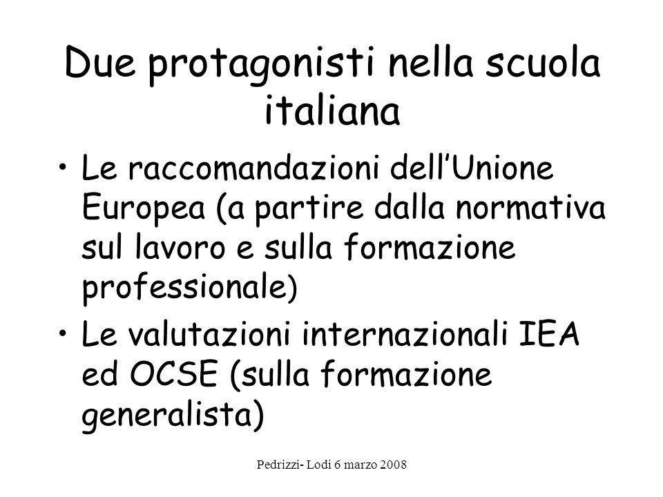 Due protagonisti nella scuola italiana