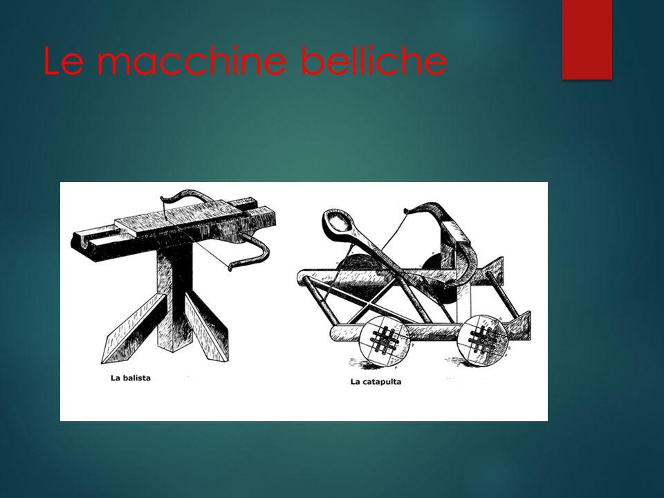 Le macchine belliche
