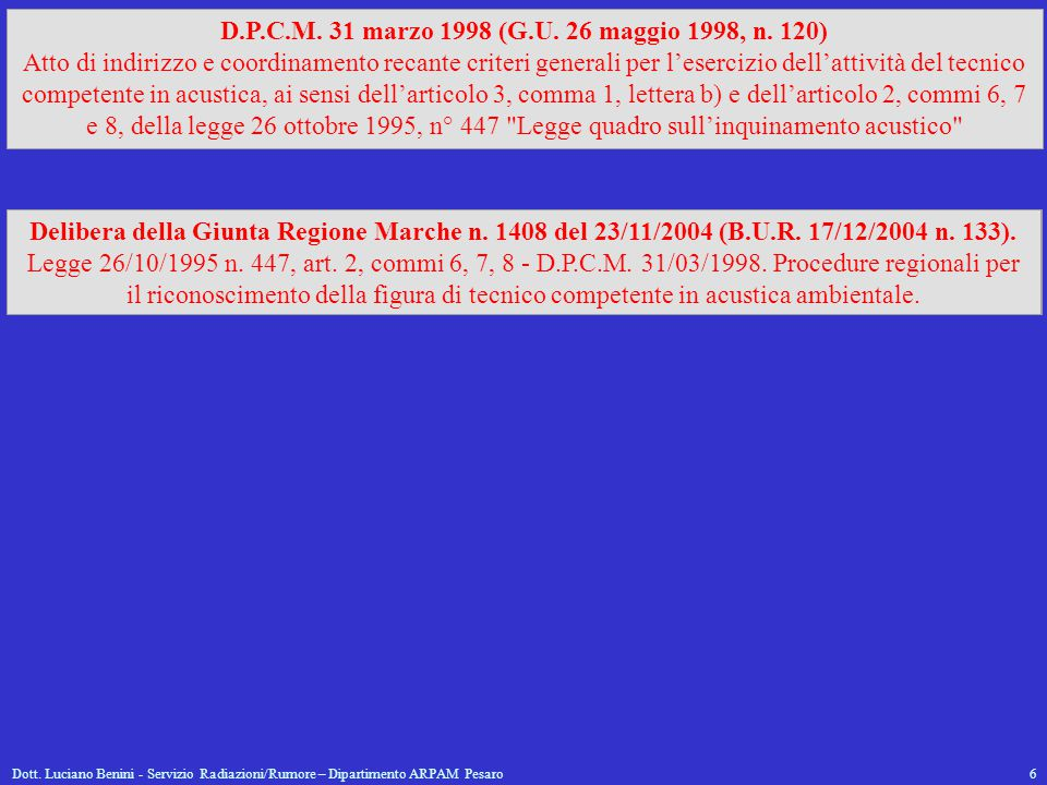 D.P.C.M. 31 marzo 1998 (G.U. 26 maggio 1998, n. 120)