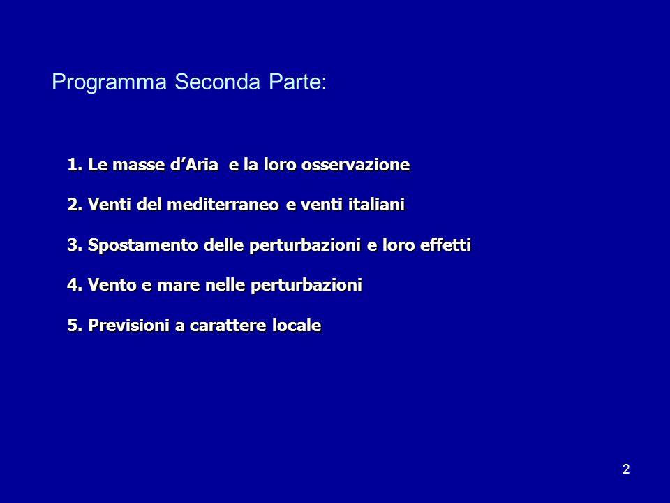 Programma Seconda Parte: