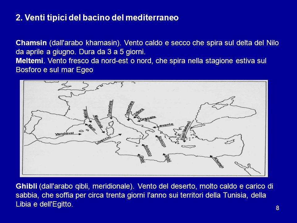 2. Venti tipici del bacino del mediterraneo