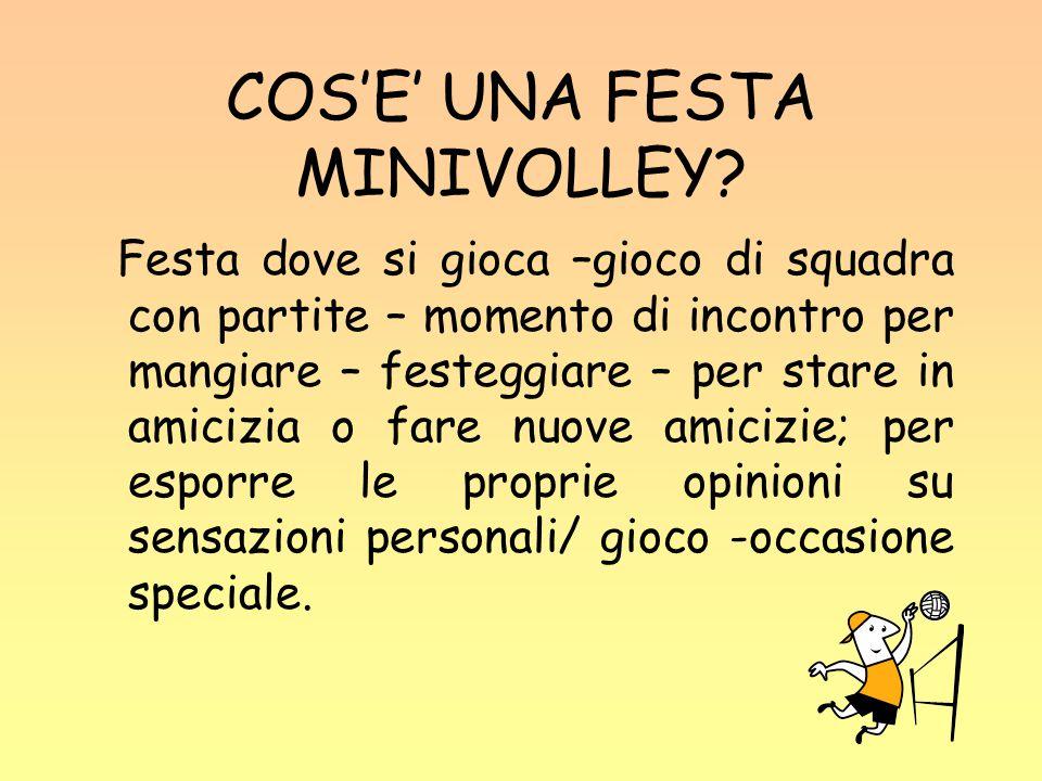 COS'E' UNA FESTA MINIVOLLEY