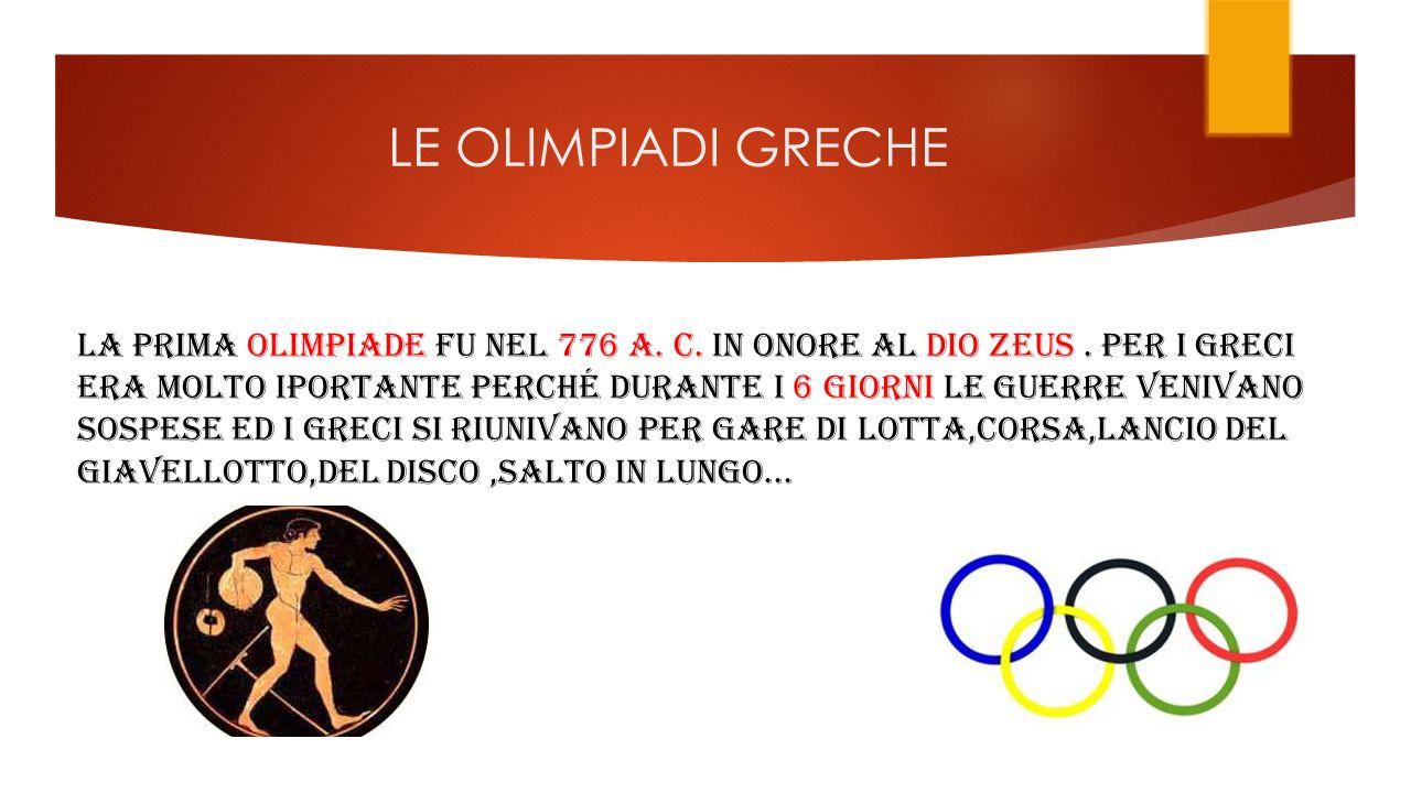 LE OLIMPIADI GRECHE